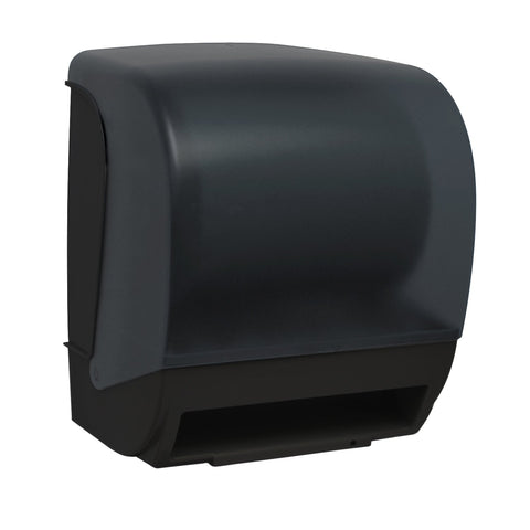 InSpire Electronic Hands Free Roll Towel Dispenser Black Translucent Palmer Fixture TD0235-02