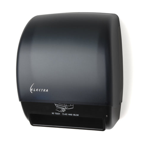 Electra Touchless Roll Towel Dispenser Black Translucent Palmer Fixture TD0246-02