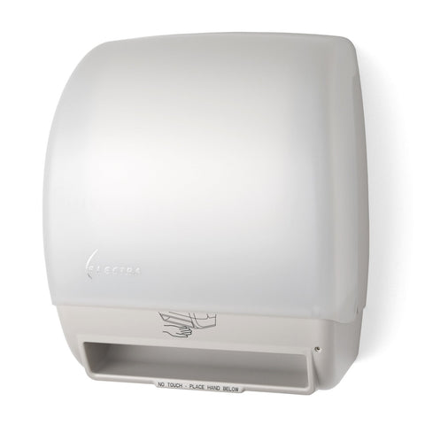 Electra Touchless Roll Towel Dispenser White Translucent Palmer Fixture TD0245-03P