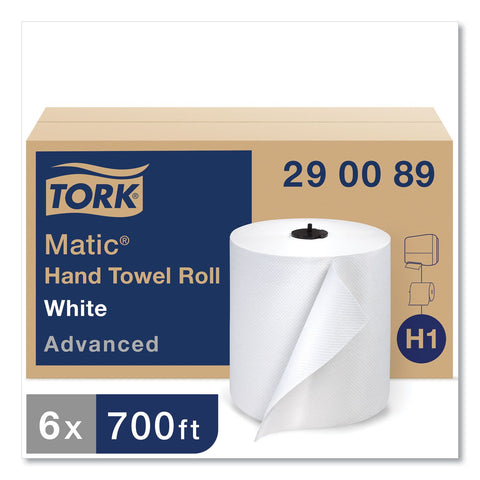 "Tork Advanced Matic® 290089, Hand Towel Roll, Embossed, 7.9"" x 700, White, 1-Ply, Case of 6"