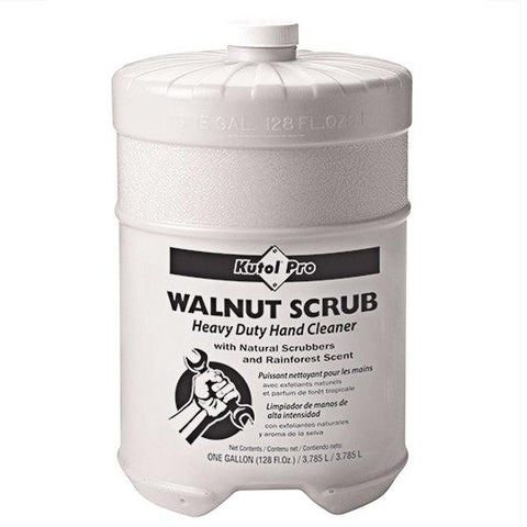 Walnut Scrub with Natural Scrubbers Heavy Duty Hand Cleaner, Flat Top Gallon, Kutol Pro 4707, Pack of 4