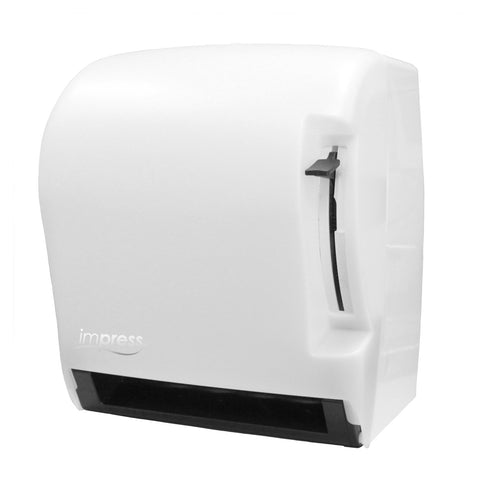 Paper Towel Dispenser with lever, White Translucent, ImPress - Palmer Fixture TD0220