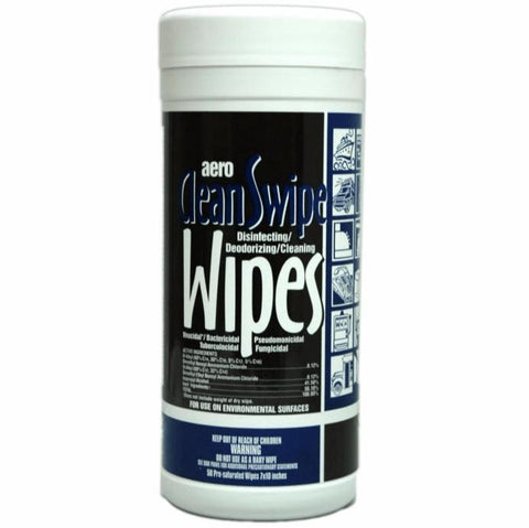 Disinfecting and Cleaning Wipes 50ct, CleanSwipe Aero 78405QA, Box of 6