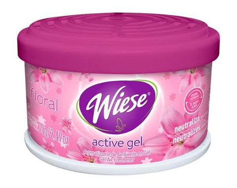 Air Freshener Gel & Odor Eliminator, Floral Fragrance, 2.5 oz Jar, Wiese, Box of 6