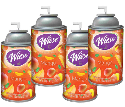 Automatic Air Freshener Spray Refill, Mango, 7 oz. Can, Wiese, Box of 4