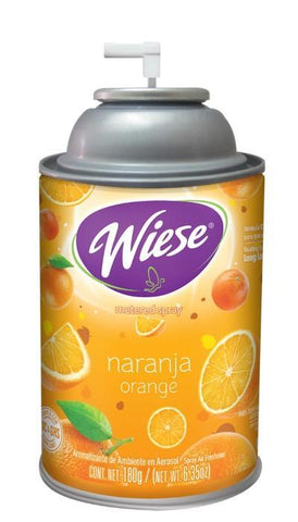Automatic Spray Air Freshener Refill, Orange, 7 oz. Can, Wiese, Box of 12