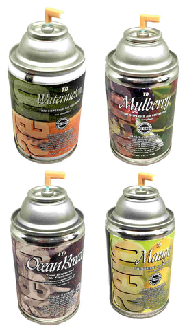 Automatic Spray Air Freshener Refills, Assorted Pack 2,  4 Fragrances, 7oz can