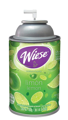Automatic Air Freshener Spray Refill, Lemon, 7 oz. Can, Wiese, Box of 12