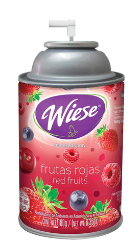 Automatic Air Freshener Spray, Red Fruits, 7 oz. Can, Wiese, Box of 12