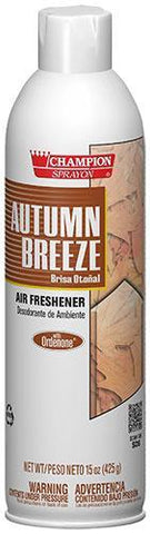 Autumn Breeze Air Freshener Spray, Water-Based, Champion Sprayon 15 oz Can, Box of 3