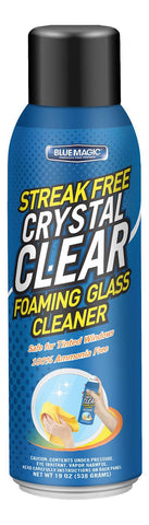 Blue Magic 910-06R Foaming Glass Cleaner, Crystal Clear, 19 oz Can,  Pack of 1