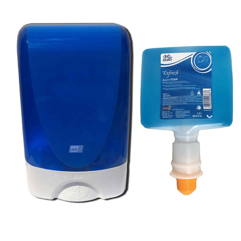 Deb Azure Touch-Free Blue Dispenser Plus Azure Touch-Free Refill