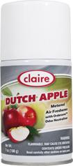 Automatic Air Freshener Spray Refill, Dutch Apple, 7 oz. Can, Claire, Pack of 6 - 104