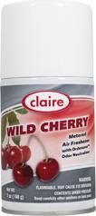 Automatic Air Freshener Spray Refill, Wild Cherry, 7 oz. Can, Claire, Pack of 12 - 107