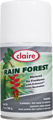Automatic Air Freshener Spray Refill, Rain Forest, 7 oz. Can, Claire, Pack of 12 - 114