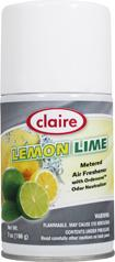 Automatic Air Freshener Spray Refill, Lemon Lime, 7 oz. Can, Claire, Pack of 12 - 120