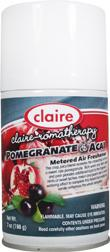 Automatic Air Freshener Spray Refill, Pomegranate and Acai, 7 oz. Can, Claire, Pack of 6 - 158