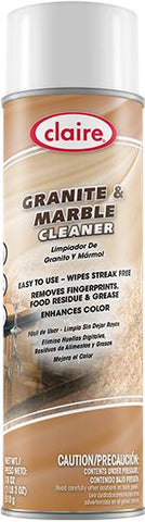 Granite and Marble Cleaner, 18 oz Can, Kosher NSF, Claire, Pack of 6 - 6366