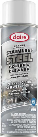 Stainless Steel Polish and Cleaner, Oil Based, 15 oz, Claire, Pack of 6 - 8416