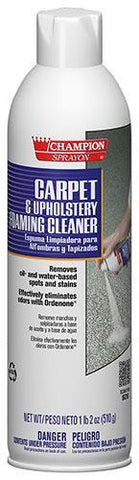 Carpet & Upholstery Foaming Cleaner Spray, 18oz Can, Champion Sprayon - 5148, Pack of 12
