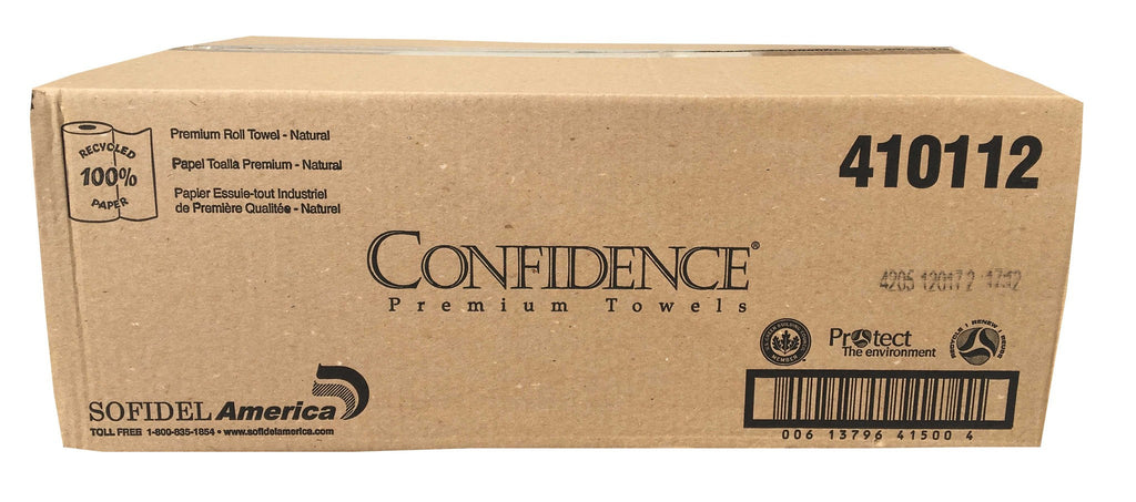 Confidence 410112 Premium Roll Paper Towels Brown 700