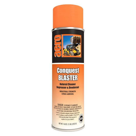 Natural Cleaner, Degreaser & Citrus Deodorant, Conquest BLASTER, 20 oz. Can, Aero, Pack of 12