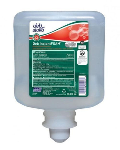InstantFoam Alcohol Hand Sanitizer 1 Liter Refill - IFS1L, Pack of 3
