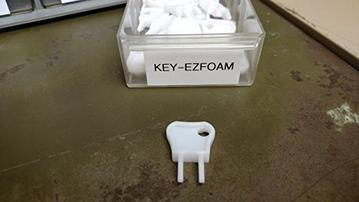 Replacement Keys for all Designer Series and EZ Foam Dispensers, Health Guard by Kutol, Pack of 10