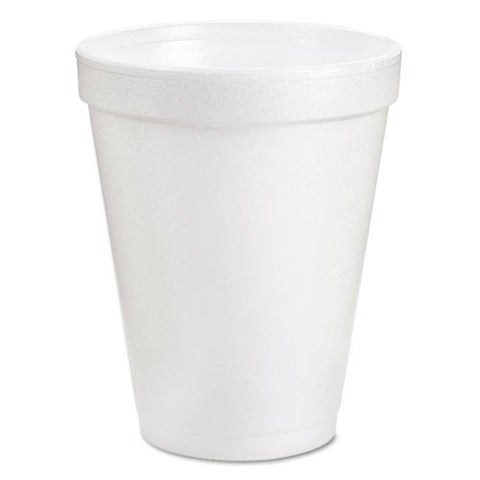 Dart Drink Foam Cups, 10 oz, Box of 1000