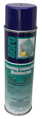 Foaming Disinfectant Cleaner, Lemon Odor, 19oz Can, Box of 12