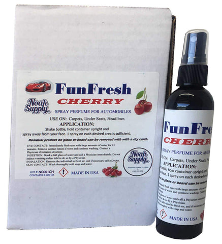 FunFresh Car Air Freshener Spray, Cherry, 4 oz. Spray Bottle
