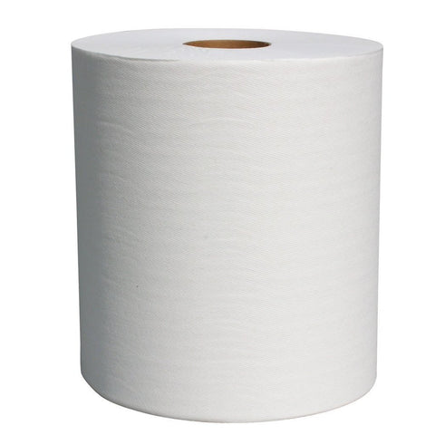 "Hardwound Roll Paper Towel 8"", White, 800', Box of 6"
