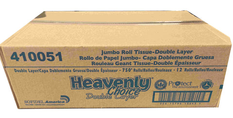 Heavenly Choice Jumbo Roll Tissue 410051, Double Layer