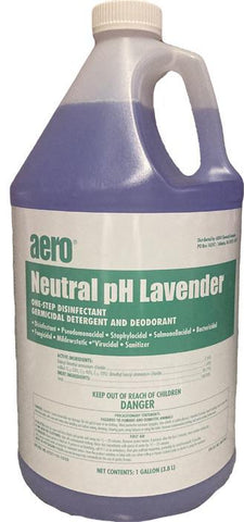 Disinfectant, Germicidal, Sanitizer, Virucidal, Fungicidal, One-Step, Aero Neutral pH Lavender, One Gallon