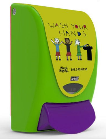 Deb Kids Wash Your Hands Soap Dispenser for 1-Liter refills - 91130