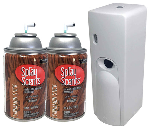 Automatic Spray Air Freshener Kit (2) Refills with (1) Dispenser - Spray Scents - Cinnamon Stick