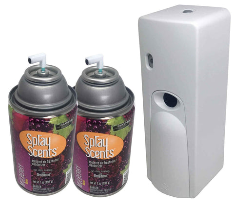 Automatic Spray Air Freshener Kit (2) Refills with (1) Dispenser - Spray Scents - Mulberry