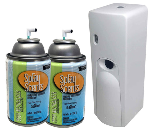Automatic Spray Air Freshener Kit (2) Refills with (1) Dispenser - Spray Scents - Odor Neutralizer