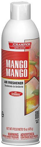 Mango Mango Air Freshener Spray, Water-Based, Champion Sprayon 15 oz Can, Box of 3