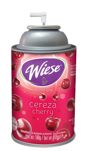 Automatic Spray Air Freshener Refill, Cherry, 7 oz. Can, Wiese, Box of 12