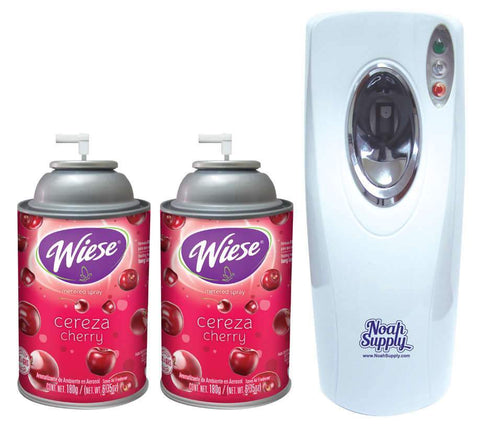 Automatic Spray Air Freshener Kit ( 2 refills) with (1) Dispenser - Cherry, Wiese