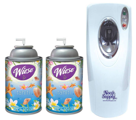 Automatic Spray Air Freshener Kit ( 2 refills) with (1) Dispenser - Tahiti, Wiese