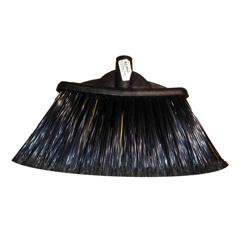 Sweeper Broom, Plastic with wood handle, Black, EA