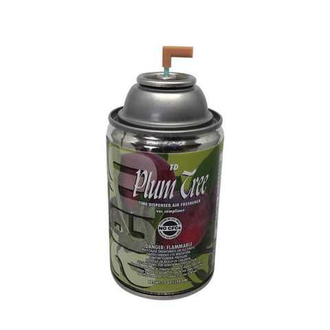 Automatic Air Freshener Spray Refill, Plum Tree, 7 oz. Can, Box of 12