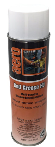 Bentone Based Lubricant, Multi-Purpose, Red Gease, 14oz Can, Box of 12