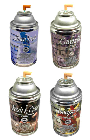 Automatic Spray Air Freshener Refills, Sample Pack 4 Fragrances, 7oz can