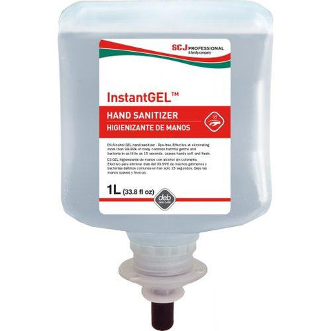 InstantGEL™ Alcohol Hand Sanitizer 1-Liter Cartridge for SCJ Professional, Deb and Deb Proline Dispensers - Pack of 6