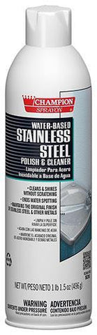 Stainless Steel Polish & Cleaner Water Based, Champion Sprayon 17.5 oz Can, Box of 12