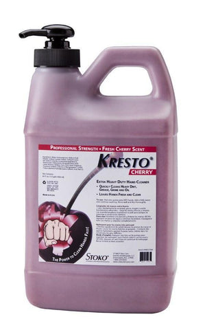 Kresto Cherry Heavy Duty Industrial Hand Cleanser 1/2 Gallon Pump Bottle - 99027564