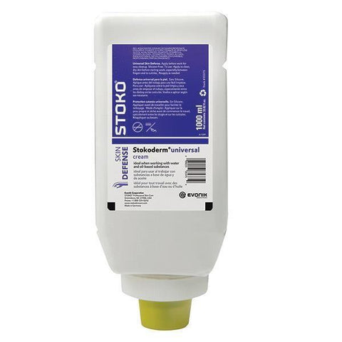 Stokoderm Universal Cream 1 Liter Refill for Stoko Vario Dispenser - 35375, Pack of 4